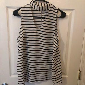 Altard State Black and White Striped Tank